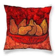 Pears On Fire Throw Pillow