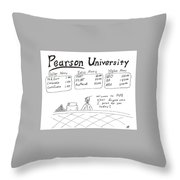 Pearson University Throw Pillow