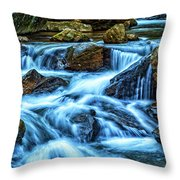 Pearsons Falls On Colt Creek Throw Pillow
