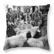 Peary Expedition, C1908 Throw Pillow