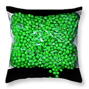 Peas Please Throw Pillow