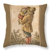 Peasant With Child Throw Pillow