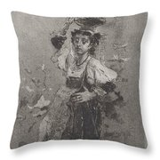 Peasant Woman Of The Campagna [ciociara] Throw Pillow