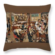Peasants Paying Tithes By Pieter Bruegel I Throw Pillow
