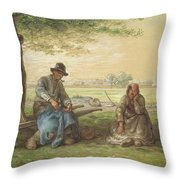 Peasants Resting Throw Pillow