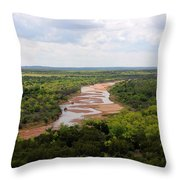 Pease On The River Throw Pillow