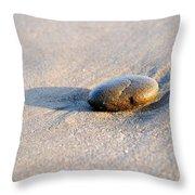 Pebble And Shadow Throw Pillow