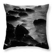 Pebble Beach By Moonlight Throw Pillow