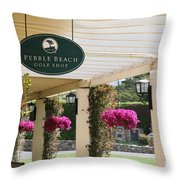 Pebble Beach Golf Shop  Throw Pillow