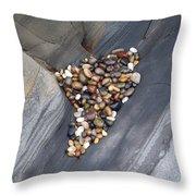 Pebble Beach Rocks 8778 Throw Pillow