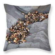 Pebble Beach Rocks 8787 Throw Pillow