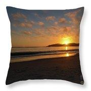 Pebble Beach Sunset Throw Pillow