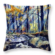 Pebble Creek Autumn Throw Pillow
