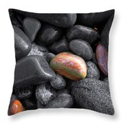 Pebble Jewels   Throw Pillow