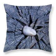 Pebble On The Star In The Log Throw Pillow