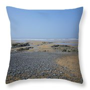 Pebble Strewn Beach Throw Pillow