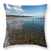 Pebbled Beach Denmark Throw Pillow