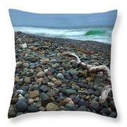 Pebbled Shore Throw Pillow
