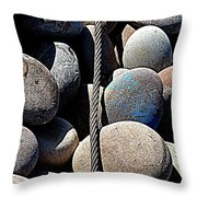 Pebbles And Cable Throw Pillow