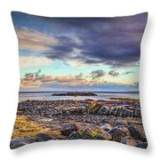 Pebbles And Sky  #h4 Throw Pillow by Leif Sohlman