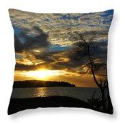 Pebbles  Beach Sechelt  Throw Pillow