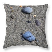 Pebbles Of Blue Throw Pillow