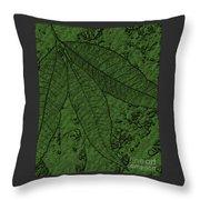 Pecan Tree Leaves Throw Pillow