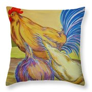 Pecking Order II Throw Pillow