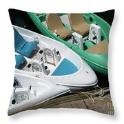 Pedal Boats Throw Pillow