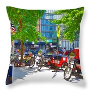 Pedal Taxis 1 Throw Pillow