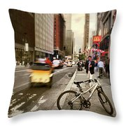 Peddle It Manhattan Throw Pillow