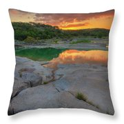 Pedernales River Sunrise, Texas Hill Country 8257 Throw Pillow