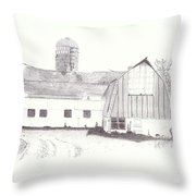 Pedersen Family Barn Throw Pillow