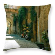 Pedestrian Walkway, Orvieto, Umbria Throw Pillow