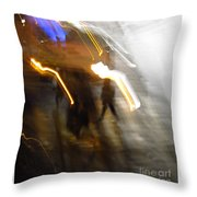 Pedestrians 4  6th Ave Series  Abstract Throw Pillow