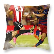 Pedro Rodriguez Kicks The Ball  Throw Pillow