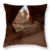 Peek A Boo Throw Pillow