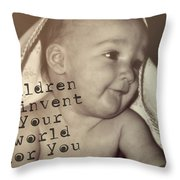 Peek A Boo Quote Throw Pillow