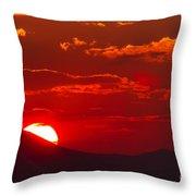 Peek-a-boo Sun Throw Pillow