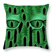 Peek-a-boo V3 Throw Pillow