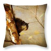 Peek-a-boooo Throw Pillow