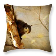 Peek-a-boooo Throw Pillow
