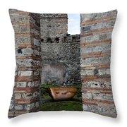 Peek Into The Past - Pompeii Throw Pillow