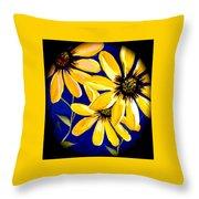 Peekaboo Sunflowers Throw Pillow