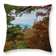 Peeking At The Smokies Throw Pillow
