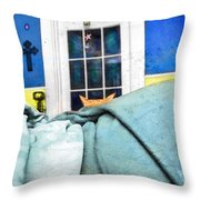 Peeking Throw Pillow