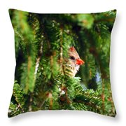 Peeking From The Pines Throw Pillow