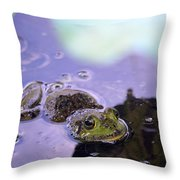 Peeking From The Pond Throw Pillow