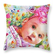 Peeking 'round The Corner Throw Pillow