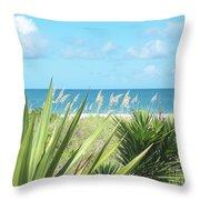 Peeking Sea Throw Pillow